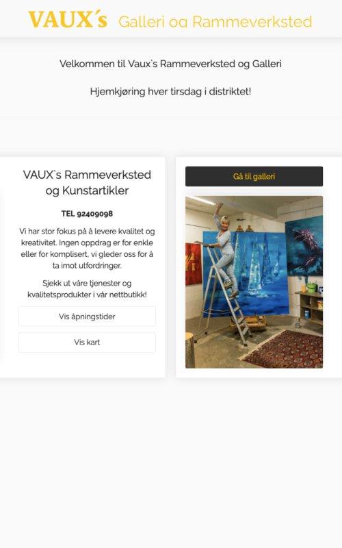 Vaux's Rammeverksted og Kunstartikler